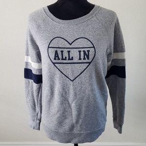 "B2G1 Old Navy Varsity ""All In"" Heart Sweatshirt"